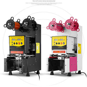 Electric Automatic Plastic Drink Tea Cups Sealer Sealing Machine 220v Rc95f