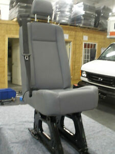 Ford Transit Oem Passenger Seats Gray Vinyl Single W hardware Universal b