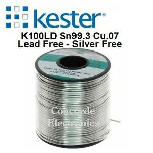 Kester Lead Free Solder 24 9574 7610 K100 275 no clean Flux 015 1lb