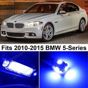 20 X Premium Blue Led Lights Interior Package Upgrade For Bmw 5 Series