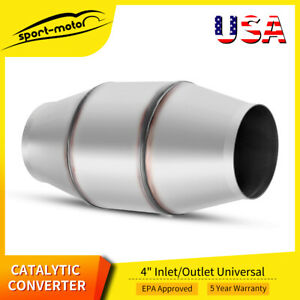 4 Stainless Steel Catalytic Converter Universal Fit For Diesel Truck Cat 810400
