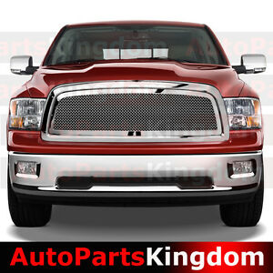 09 12 Dodge Ram 1500 Truck Chrome Packaged Mesh Grille shell Replacement Grille