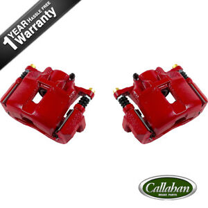 Front Red Brake Calipers For Acura Cl Rl Tsx Honda Accord Coupe Sedan