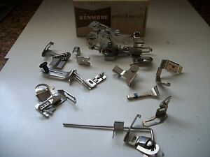 Vintage Kenmore Sewing Machine Attachments In Original Box No 608 34