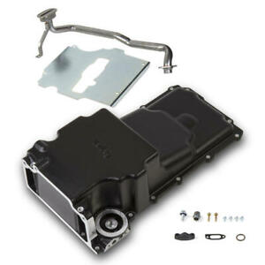 Holley Engine Oil Pan 302 2bk 6 2 Quarts Black For 1955 1987 Chevy W Ls series