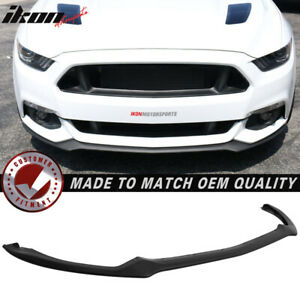 Fits 15 17 Ford Mustang Oe Style Front Bumper Lip Spoiler Pu Urethane