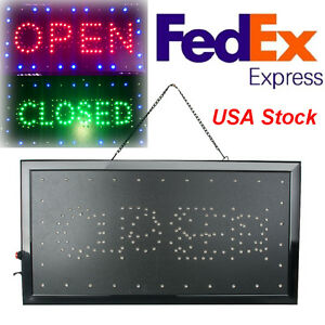 Bright Classic Open closed Led Light Business Store Bar Coffee Cafe Sign Neon