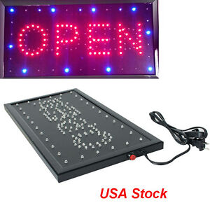 Usa 110v Ultra Bright Led Neon Light Animated Motion Business Open closed S