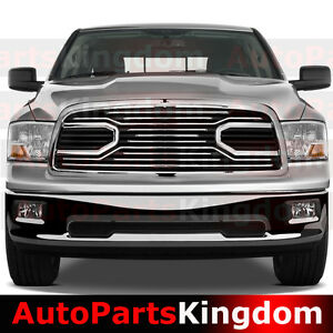 09 12 Dodge Ram 1500 Big Horn Chrome Packaged Grille chrome Shell Replacement