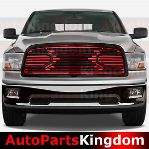 09 12 Dodge Ram 1500 Big Horn Black red Front Packaged Grille shell Replacement