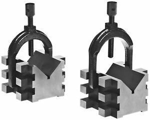 Brown Sharpe 750 2 4 Piece V Block And Clamp Pair Set Hardened Steel 0 0