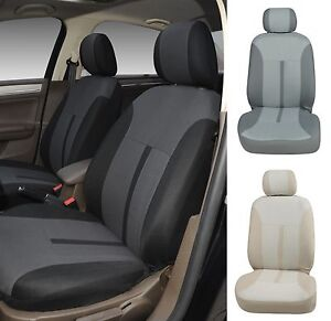 A161 Black Fabric 2 Front Bucket Car Seat Covers Compatible To Toyota Tacoma