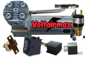 Air Ride System Compressor Voltair Max 480 Air Horn Suspension 150 Switch