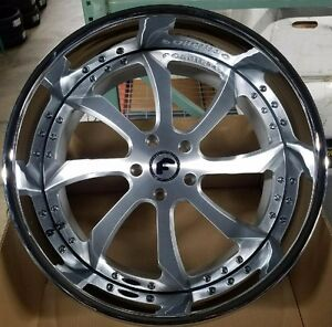 22 Forgiato 22x12 Fondare 5 Wheels Jeep Wrangler 5x5 5x127
