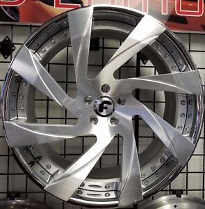 22 Forgiato Ivetos ecl 3 piece Wheels 5x112 Bentley Gt Flying Spur Audi A8