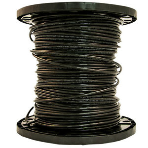 Southwire 6 awg Stranded Black Copper Thhn Wire 500 By The Roll 20493344