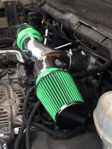 Green Dual Twin Air Intake Filter For 2002 2007 Dodge Ram 1500 4 7l V8