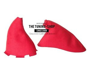 For Honda Civic Type R Ep3 01 05 Shift E Brake Boot Red Suede