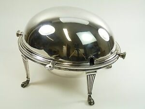 Mappin Webb Silver Plate Antique Soup Tureen Lidded Dish