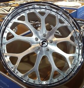 24 Forgiato Drea ff Forging Satin Wheels Lexus Ls460 Camaro Ss Bmw 7 Series