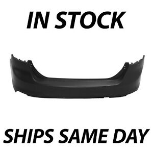 New Primered Rear Bumper Cover Replacement For 2012 2014 Ford Focus Sedan 12 14