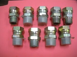 Hydraulic Fitting Swivel Straight Male To Female 1 1 16 X 1 Lot Of 9