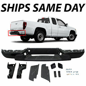 New Primered Steel Rear Bumper Assembly For 2008 2012 Chevy Colorado Gmc Canyon