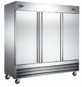Saba Heavy Duty 3 Door Commercial Reach In Freezer In Stainless Steel