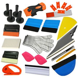 Car Window Tints Wrapping Squeegee Auto Vinyl Film Installing Tools Kit Sets