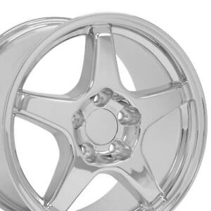 17x11 17x9 5 Wheels Fit Camaro Corvette Zr1 Chrome Rims W1x Set