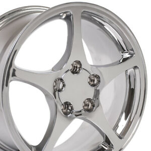 17x8 5 18x9 5 Wheels Fit Camaro Corvette C5 Chrome Rims W1x Set