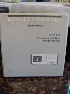 Agilent Hp 5371a Frequency Time Interval Analyzer Operating Manual