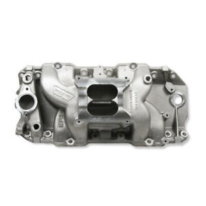Weiand Intake Manifold 8018 Stealth Rectangular Port Satin Aluminum For Bbc