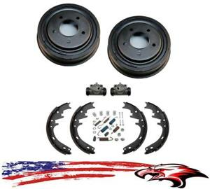 Rear Drums Shoes Wheel Cylinders Spring Kit For Ford Bronco Full Size 1987 1996