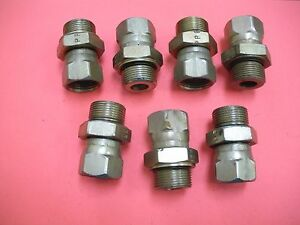 Hydraulic Fitting Swivel Straight Male To Female 7 8 X 3 4 Lot Of 7