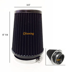 Black 3 5 89mm Narrow Air Intake Cone Replacement High Quality Air Filter