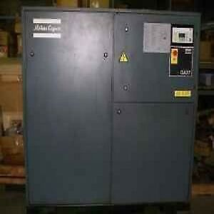 Used 50 hp Atlas Copco Ga37 Rotary Air Compressor Computer Controlled