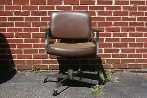 Leather And Cloth Rolling Desk Chair With Wooden Arms Black