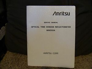 Anritsu Mw910a Optical Time Domain Reflectometer Service Manual