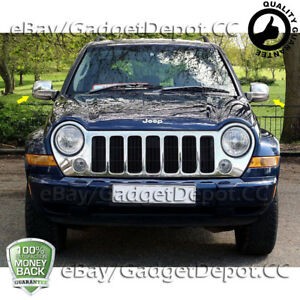For 2002 2003 2004 2005 2006 2007 Jeep Liberty Chrome Mirror Covers