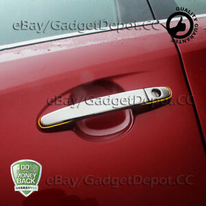 For 2007 2008 2009 2011 Toyota Yaris Chrome Door Handle Covers W Psg Keyhole