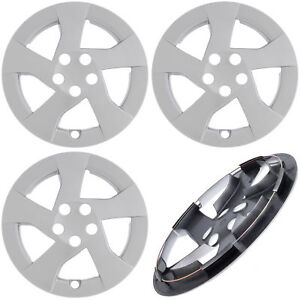 New 4pc Fits Toyota Prius 2010 2011 2012 15 Inch Silver Hub Caps Wheel Covers