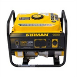 Firman P01202 1500 1200 Watt Gas Powered Extended Run Time Portable Generator