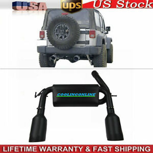 Stainless Steel Exhaust Turbo Muffler Dual Cat Back For Jeep Wrangler 2007 2015
