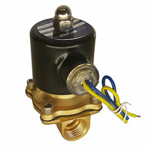 Hfs r 110v Ac 3 4 Electric Solenoid Valve Water Air Gas Fuels N c Brass