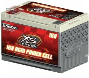 Xs Power S1600 16v Agm Starting Battery Max Amps 2 000a Ca 500a