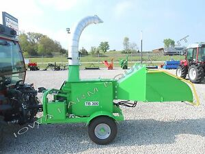 Drum Style Wood Chipper timber palm Fronds most Anything Peruzzo Tb300 Demounit