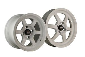 Traklite Launch Drag Staggered Set 13x8 20 15x3 5 10 4x100 White