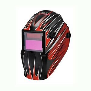 Lincoln Electric Red Fierce Variable shade Auto darkening Helmet Face Protector