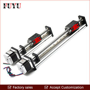 Cnc Linear Rail Guide Slide Stage Actuator Ball Screw Motion Table Nema 23 Motor